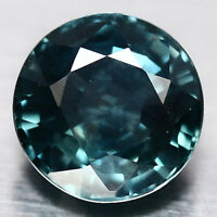 2.15 CT AAA NATURAL HEATED BLUISH GREEN PARAIBRA MADAGASCAR SAPPHIRE ROUND