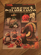 Holiday Time in Plastic Canvas Pattern Leaflet Thanksgiving Christmas LA1092