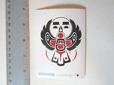 First Nation Native Pacific West Coast Raven Holding Moon Vinyl Sticker Decal