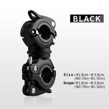 Black Rotating Bike Handlebar Mount Clamp Clip Holder for Flashlight Torch QK