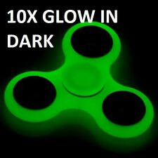 10 Glow in the Dark Hand Spinner Tri Fidget Focus Tool Desk Toy Stocking Stuffer