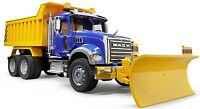 Bruder Toys Kids Mack Granite Dump Truck with Snow Plow Blade 02825 NEW