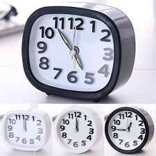 Small Clock Battery Operated Quartz Alarm Clocks Desks Room Bedside Table Decor