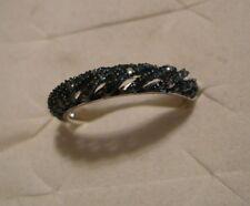 Blue Diamond Band Ring Sz. 7  80 diamonds .65tcw MSRP$1144.00