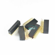 10pcs 2x10pin Header Right Angle Double Female Row Socket Connector 254mm Pitch