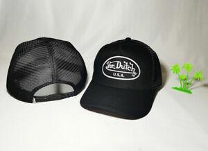 HOT! Von Dutch men patch logo adjustable snap button trucker hat
