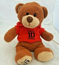 One Direction Hoodie Teddy Plush / 1D Teddy Bear Soft Toy. Red Hoodie