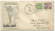 US Crash Cover Startosphere Ascension US RY Postal Car Exhibit Chicago, IL 1933