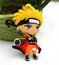 """Naruto Keychain Rubber Double Sided 2.5"""" Anime US Seller"""