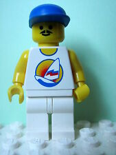 LEGO Minifig par031 @@ Surfboard on Ocean - Blue Cap 6414 6597 10159