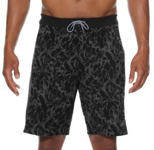 Asics Men's Board Shorts 10 Inch Training Core Sports Shorts - Black Print - New