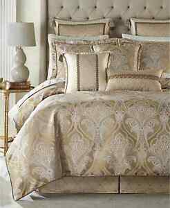 $550 Croscill Alexander 4 Pc KING Comforter Sets Tan