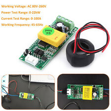 AC80-260V 100A Power Voltage Current Multimeter + Coil Current Transformer CT AM