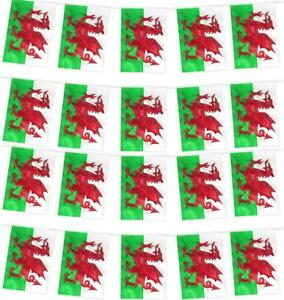 WALES FLAG, BUNTING or 2PC SET WELSH ST. DAVID'S PARTY FOOTBALL EURO 2020 2021