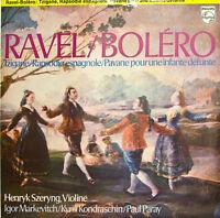 """Ravel Bolero Tzigane Henryk Szeryng Markevitch Kondraschin Paray 12 """" LP (d331)"""