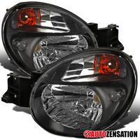 For 2002-2003 Subaru Impreza WRX/Outback Sport Black Headlights Lamps Pair