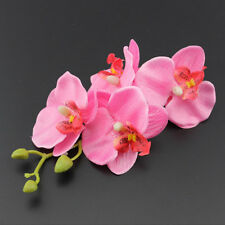Butterfly Orchid Flower Hair Clip Barrette Pin Bridal Wedding Prom Party Women's