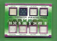 LARRY BIRD Kevin Garnett MCHALE PIERCE PARISH RONDO JERSEY CARD #d7 CELTICS LEAF