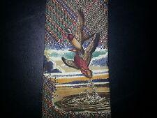 417 Van Heusen Tie Silk Mallard Ducks Brown Green Red White Yellow NIB t1689