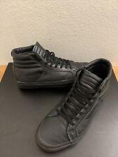 Vans DQM The General SK8 Black Black Leather Men's Sz 9