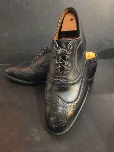 """Allen Edmonds Black """"McAllister"""" Bench Welt Wing Tip Shoes, Excellent, 11 EEE"""