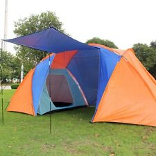 Large 4 Men Family Tunnel Tent With Awning Camping Festival Waterproof Outdoor
