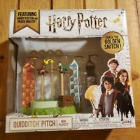 Harry Potter Quidditch Pitch Arena Mini & Draco Malfoy Chasing The Golden Snitch