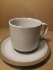 Midwinter Stoneware Japan Oven to Table Gray Cup And Saucer Set