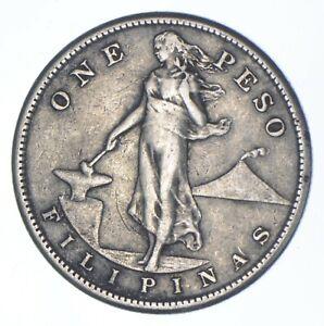 SILVER - WORLD COIN - 1907 Philippines 1 Peso - World Silver Coin *355