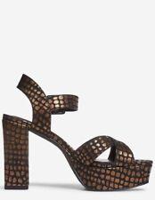 Dorothy Perkins - Gold 'Boppity' Block Heel Platform Sandals - Size 6 - BNWT