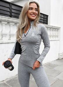 Gym King Womens Sport Power 1/4 Zip Funnel-Grey Marl