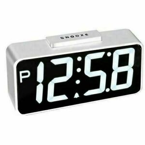 NEW ACCTIM TALOS WHITE LED ALARM CLOCK CHARGES YOUR PHONE, TABLET OR SMART WATCH