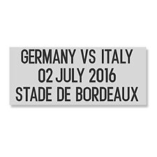 Match Details Trikot Deutschland vs Italien EM 2016 Euro Patch Aufdruck Flock