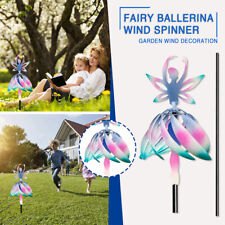 More details for wind spinner for outdoor decor fairy ballerina wind spinner patio lawn & garden