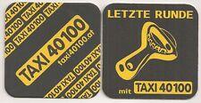 """""""Taxi 40100"""" - alter Bierdeckel """"Letzte Runde"""" aus Wien"""