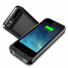 Estuche Cargador Negro Batería de Respaldo para iPhone 5 5S SE Apple MFi Certified []