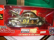 1/24 Racing Champions gold stock rod '40 ford coupe #94 Mcdonalds 1998 issue #37
