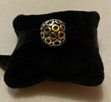 Pandora Silver Gold Circles Charm Retired