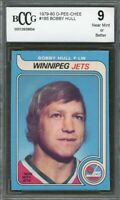 1979-80 o-pee-chee #185 BOBBY HULL winnipeg jets BGS BCCG 9