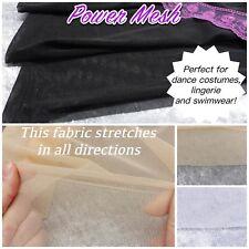 "Power Net Mesh Fine Stretch Fabric Dance Costume/ Lingerie/ Craft 60""/150cm Wide"