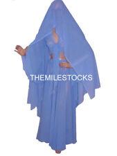 TMS S BLUE Chiffon Skirt Top Veil Belly Costume Tribal ROBE JUPE Dance EHS CSTV