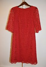 Ralph Lauren Lace sheath Red cocktail dress, Size 8