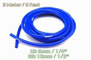 3 METRE BLUE SILICONE VACUUM HOSE AIR ENGINE BAY DRESS UP 6MM FIT AUDI