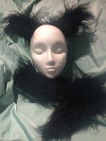 Ring-Tailed Lemur Ears And Tail Set Faux Fur Fancy Dress Unisex One Size New