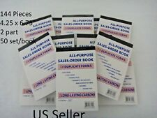Lot of 144 Sales Order Book Receipt 50 Duplicate Forms Carbon US Seller