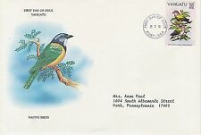 VANUATU 1981 FIRST DAY COVER - NATIVE BIRDS - CHALCOPHAPS