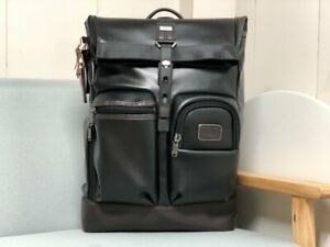 Tumi Real Genuine Leather Travel Large Backpack Mens Bag