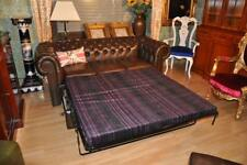 Chesterfield Standard 3 Sitz Leder Sofa mit Bettfunktion