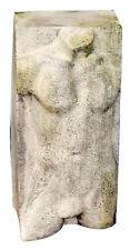 "Nude Male Torso Garden Sculpture Block 30.5"""