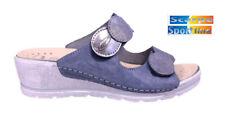 Pantofole DONNA Riposella   40925  blu a doppi strappi plantare estraibile